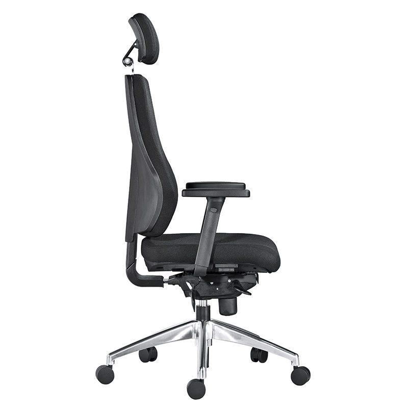 Uni 09 kontorstol med hodehviler og korsryggpumpe -1211