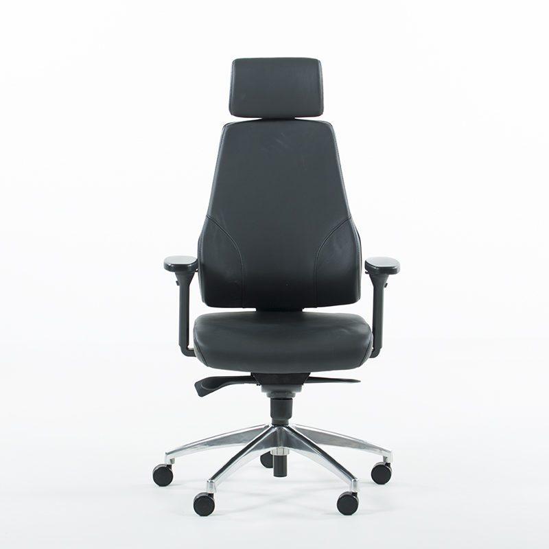 Uni 09 kontorstol i skinn-1550