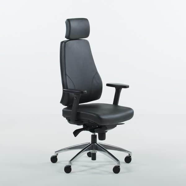 Uni 09 kontorstol i skinn-0