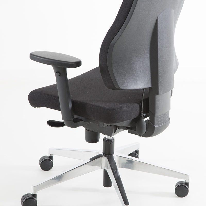 Uni 09 kontorstol med hodehviler og korsryggpumpe -1213