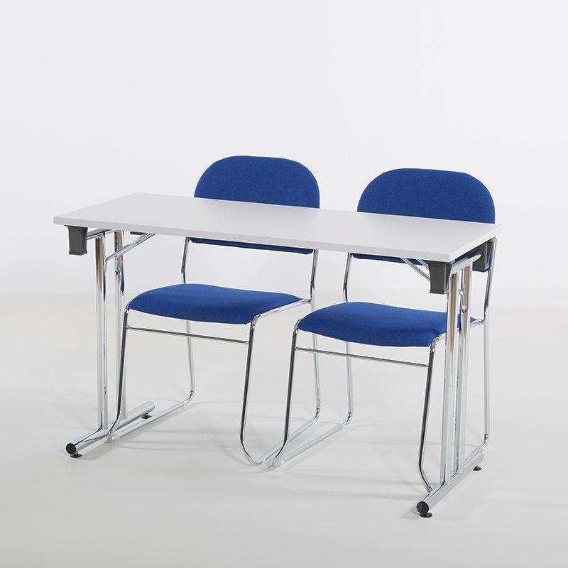 Vesta Konferansestol blått stoff-2268