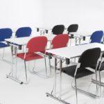 Vesta Konferansestol blått stoff-2269