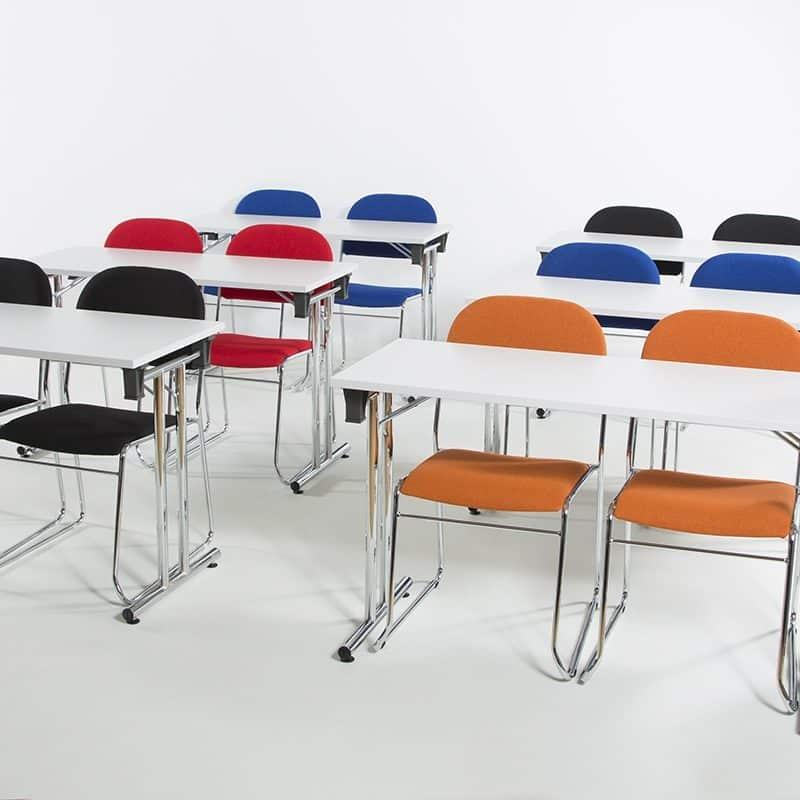 Vesta Konferansestol blått stoff-2271