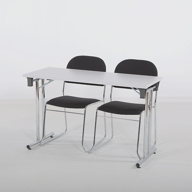 Vesta Konferansestol sort stoff-2267
