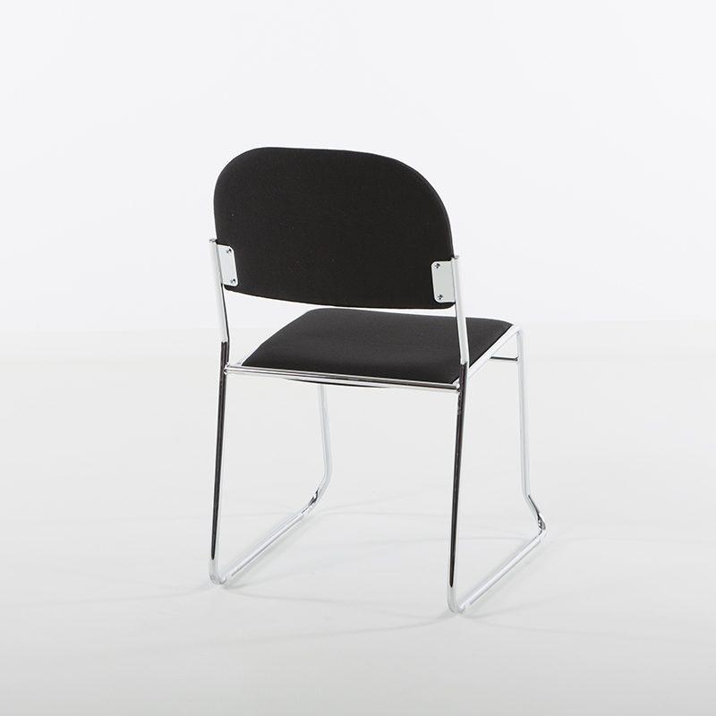 Vesta Konferansestol sort stoff-2265