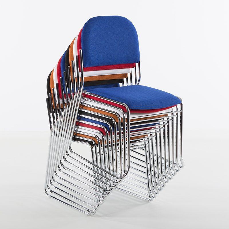 Vesta Konferansestol blått stoff-2270