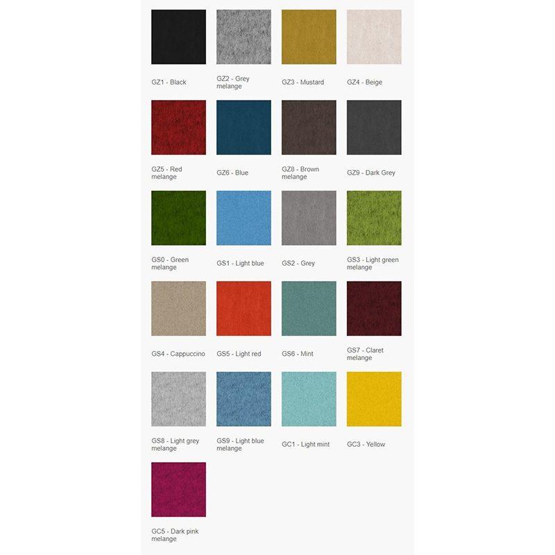 Skillevegg B800xH1200, lydabsorberende i mange farger-1881