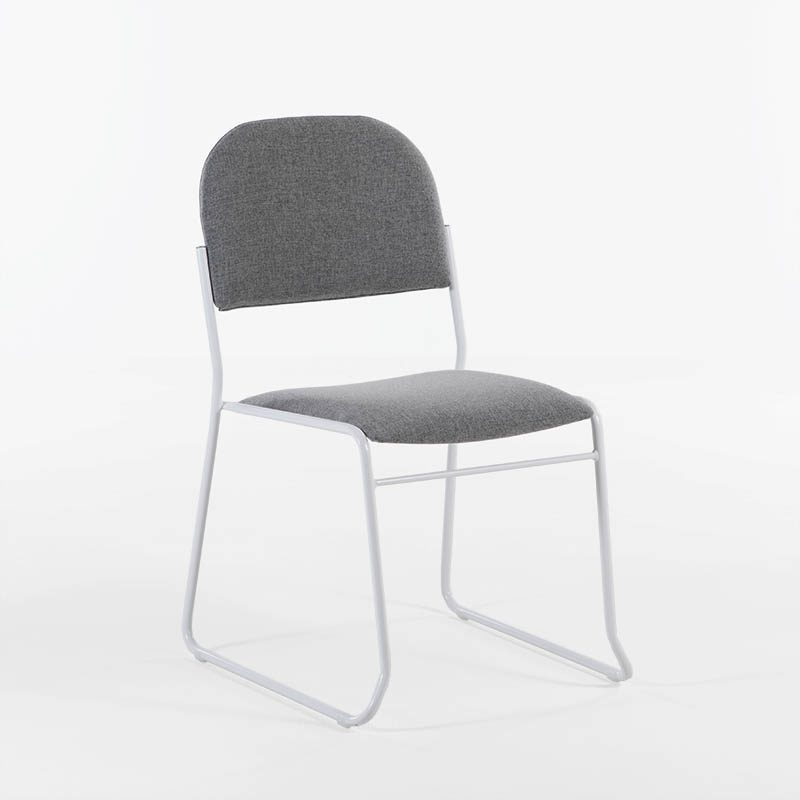 Vesta Konferansestol grått stoff, sort, hvitt, crom understell-2230