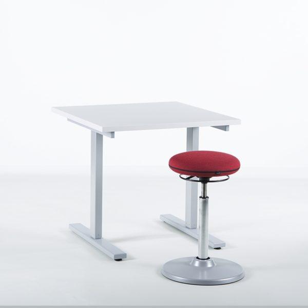 KAMPANJE - Hev senk skrivebord, bordplate 80x80 cm-0