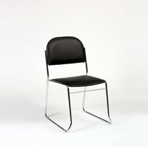 Vesta stol i sort skai