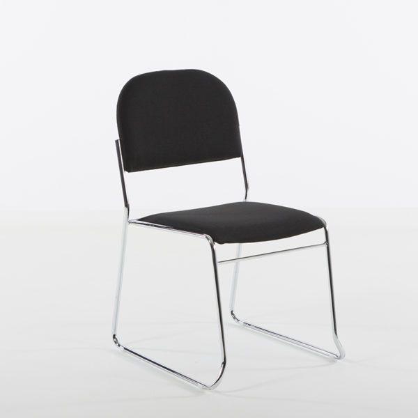 Vesta stol i sort stoff