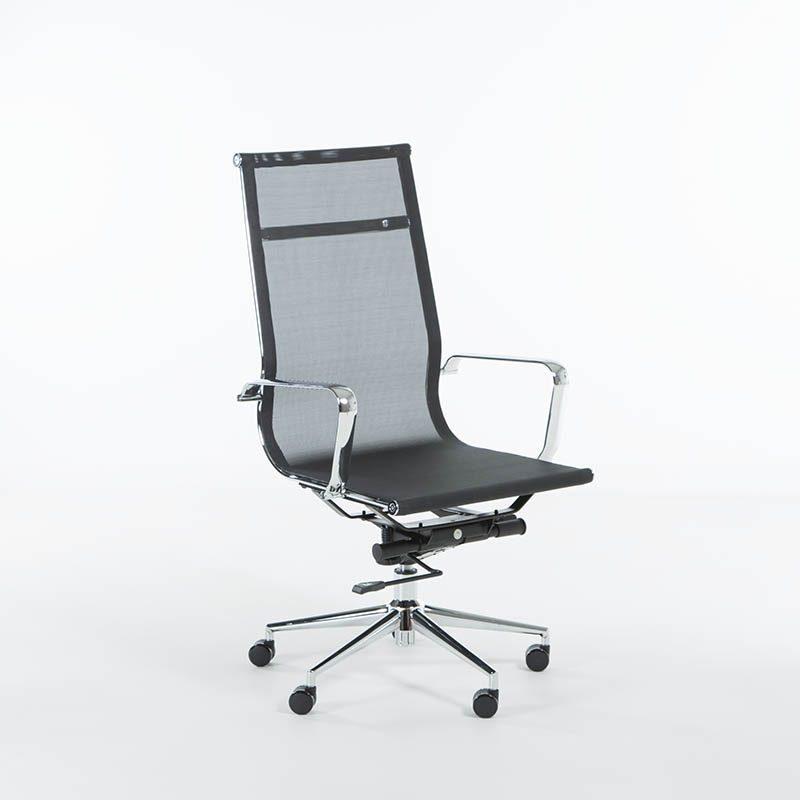 Lunar konferansestol i mesh høy rygg-0