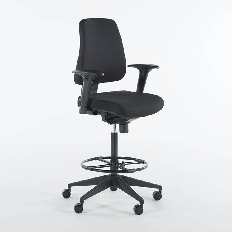Kassa stol kontorstol, høy stol til resepsjon, dagligvare kasse