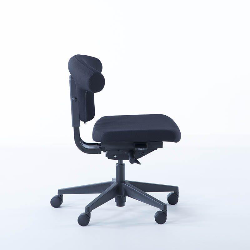 Kontorstol, T-rygg, grå, sort, høy kvalitet, varer lenge, stort, utvalg, kontorstoler