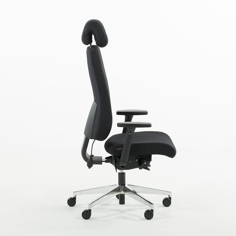 Uni 11 XL kontorstol med ekstra dypt sete, hodehviler-2255